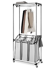 Chrome Laundry Center & Sorter