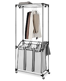 Whitmor Chrome Laundry Center & Sorter