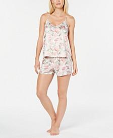 Brenda Floral-Print Satin Cami and Shorts Set