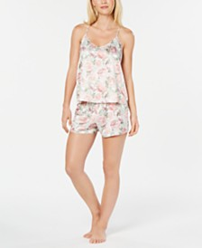 Flora by Flora Nikrooz Brenda Floral-Print Satin Cami and Shorts Set