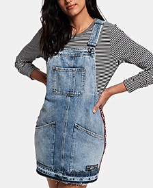 Cotton Denim Overalls Dress