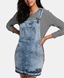 Superdry Cotton Denim Overalls Dress