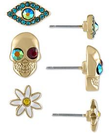 RACHEL Rachel Roy Gold-Tone 3-Pc. Set Crystal Mystical Stud Earrings