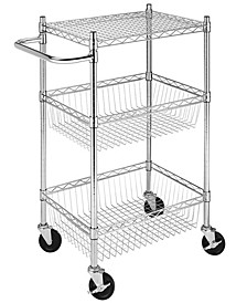 Rolling 3-Tier Commercial Basket Cart