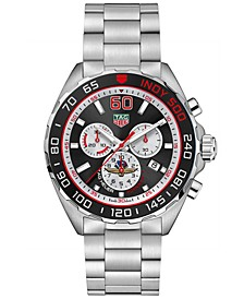 Men's Swiss Chronograph Formula 1 Indy 500 Stainless Steel Bracelet Watch 43mm - A Limited Edition