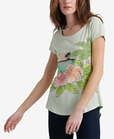 Lucky Brand Tropical Island Cotton Graphic T-Shirt