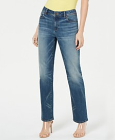I.N.C. Curvy Five-Pocket Straight-Leg Jeans, Created for Macy's