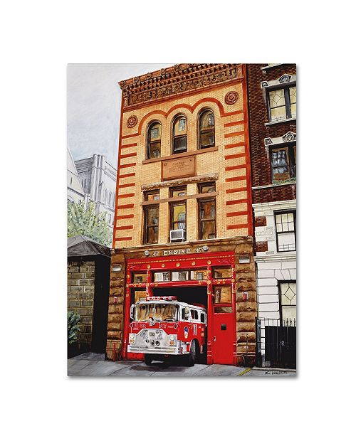 "Trademark Innovations Paul Walsh 'Fdny Engine 47' Canvas Art - 47"" x 35"" x 2"""