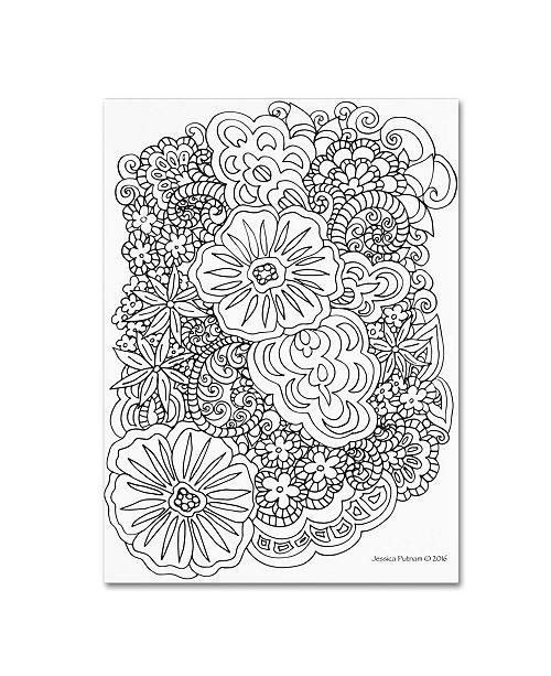 "Trademark Global Jessica Putnam 'Floral 34' Canvas Art - 19"" x 14"" x 2"""