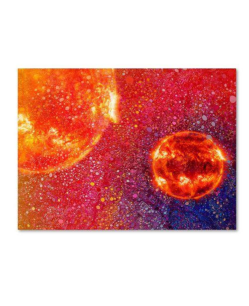 """Trademark Global MusicDreamerArt 'Two Suns' Canvas Art - 24"""" x 18"""" x 2"""""""