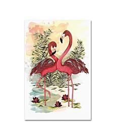 "The Tangled Peacock 'Flamingo Dance' Canvas Art - 32"" x 22"" x 2"""