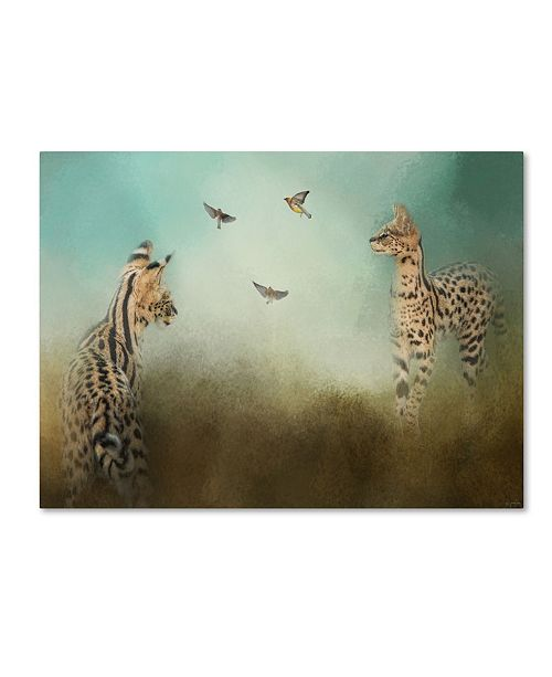 "Trademark Global Jai Johnson 'Watching The Waxwings' Canvas Art - 19"" x 14"" x 2"""