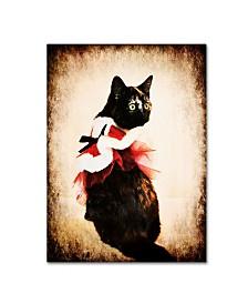 """Jai Johnson 'Vintage Christmas Kitten' Canvas Art - 32"""" x 24"""" x 2"""""""