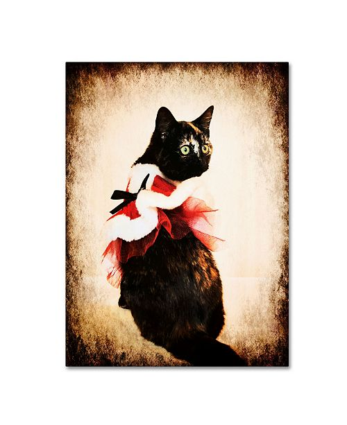 "Trademark Global Jai Johnson 'Vintage Christmas Kitten' Canvas Art - 32"" x 24"" x 2"""