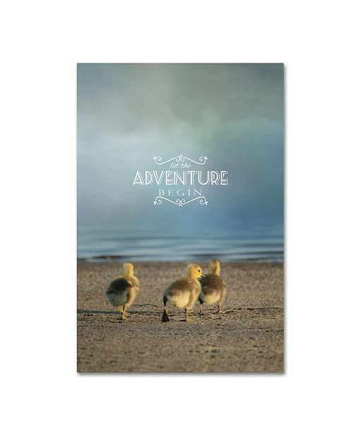 "Trademark Global Jai Johnson 'The First Big Adventure with words' Canvas Art - 19"" x 12"" x 2"""