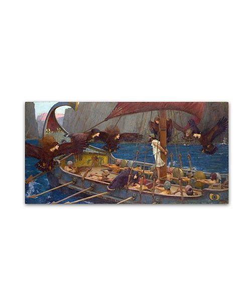"""Trademark Global Waterhouse 'Ulysses And The Sirens' Canvas Art - 32"""" x 16"""" x 2"""""""