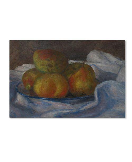 "Trademark Global Renoir 'Apples And Pears' Canvas Art - 19"" x 12"" x 2"""