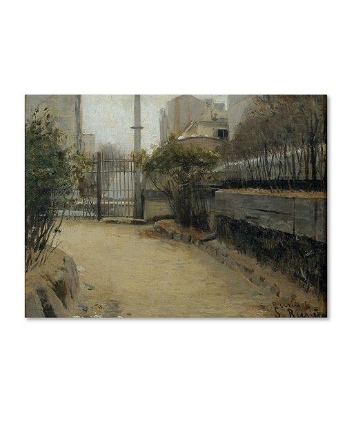 """Trademark Global Santiago Rusinol 'Garden Of Montmartre' Canvas Art - 24"""" x 18"""" x 2"""""""