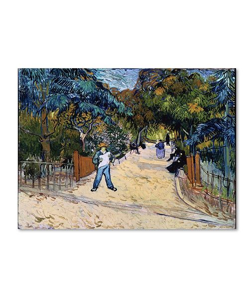 "Trademark Global Van Gogh 'Entrance To The Public Gardens In Arles' Canvas Art - 32"" x 24"" x 2"""