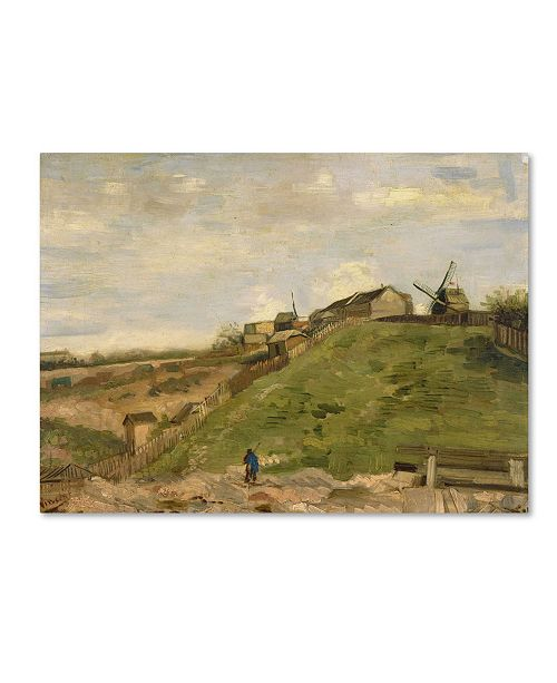 """Trademark Global Van Gogh 'The Hill Of Montmartre With Stone Quarry' Canvas Art - 32"""" x 24"""" x 2"""""""