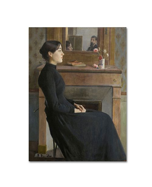 "Trademark Global Santiago Rusinol 'Female Figure' Canvas Art - 32"" x 24"" x 2"""