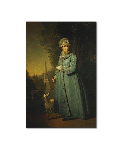 "Trademark Global Vladimir Borovikovsky 'Portrait Of Catherine Ii' Canvas Art - 32"" x 22"" x 2"""