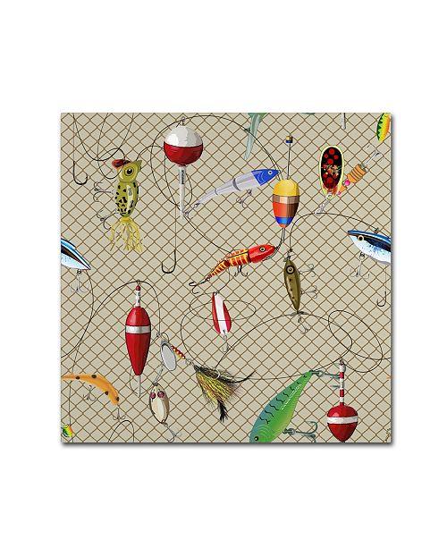 "Trademark Global Jean Plout 'Wilderness Lodge I' Canvas Art - 14"" x 14"" x 2"""