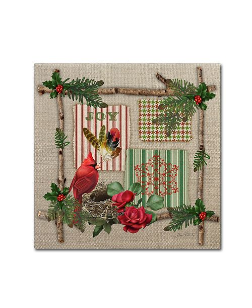 """Trademark Global Jean Plout 'Country Christmas 1' Canvas Art - 14"""" x 14"""" x 2"""""""