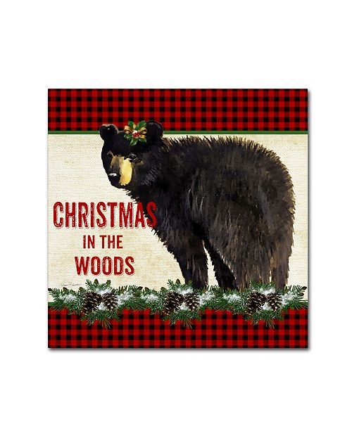 """Trademark Global Jean Plout 'Country Christmas 7' Canvas Art - 18"""" x 18"""" x 2"""""""
