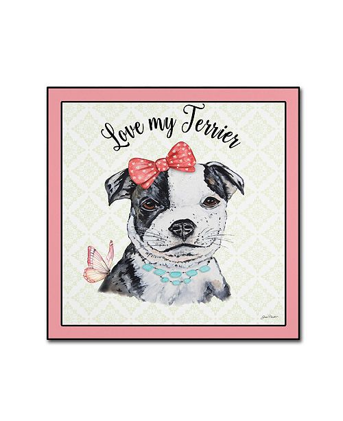 "Trademark Global Jean Plout 'Staffordshire Terrier 1' Canvas Art - 35"" x 35"" x 2"""