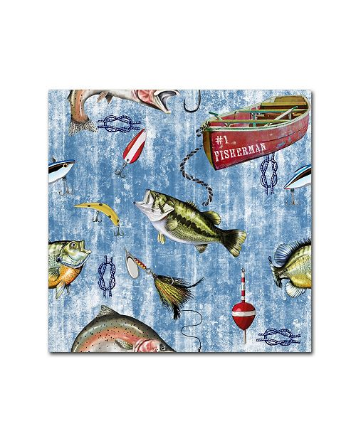 "Trademark Global Jean Plout 'Fisherman 2' Canvas Art - 24"" x 24"" x 2"""
