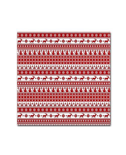 "Trademark Global Jean Plout 'Alpine Christmas 1' Canvas Art - 18"" x 18"" x 2"""