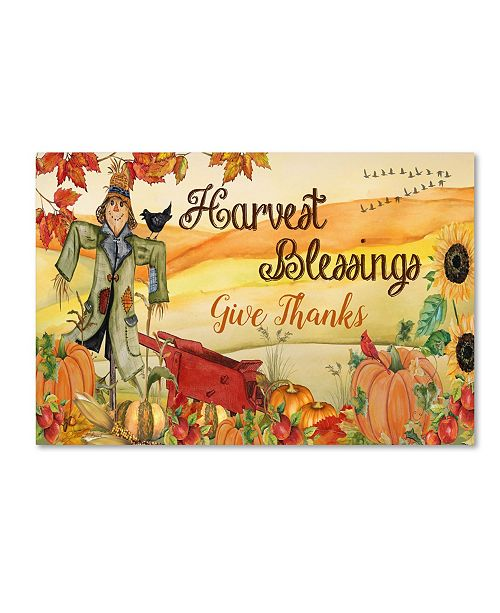 "Trademark Global Jean Plout 'Give Thanks 2' Canvas Art - 32"" x 22"" x 2"""