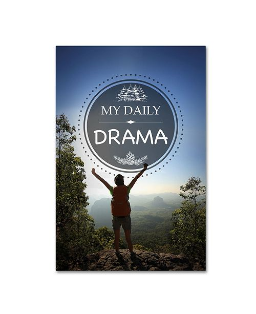 """Trademark Global Jean Plout 'My Daily DRAMA' Canvas Art - 19"""" x 12"""" x 2"""""""