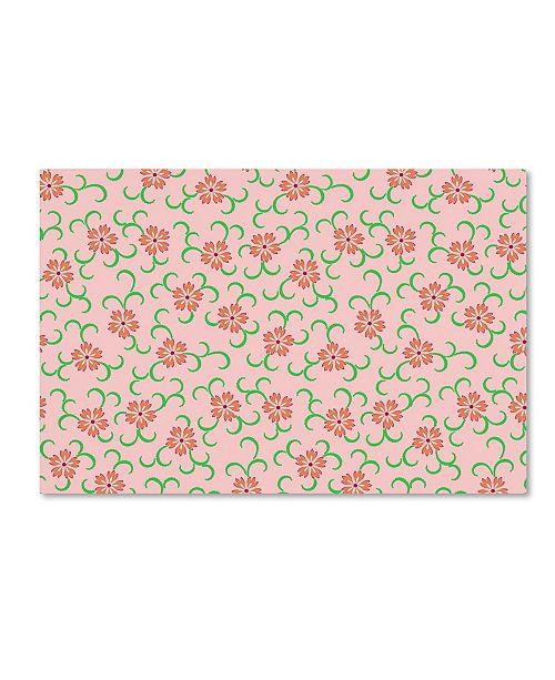 "Trademark Global Jean Plout 'Springtime Botanicals 4' Canvas Art - 19"" x 12"" x 2"""