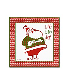 "Jean Plout 'Ugly Christmas Sweater Santa 4' Canvas Art - 18"" x 18"" x 2"""