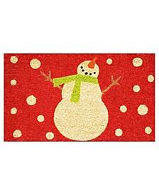"Holiday Snowman 17"" x 29"" Coir/Vinyl Doormat"