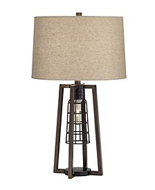 2 Light Caged Table Lamp