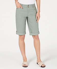 Tummy Control Chino Shorts, Created for Macy's