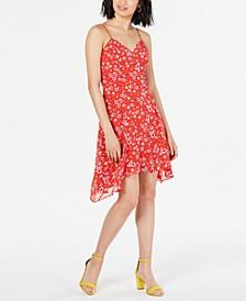Floral-Print Asymmetrical Dress