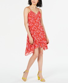 19 Cooper Floral-Print Asymmetrical Dress