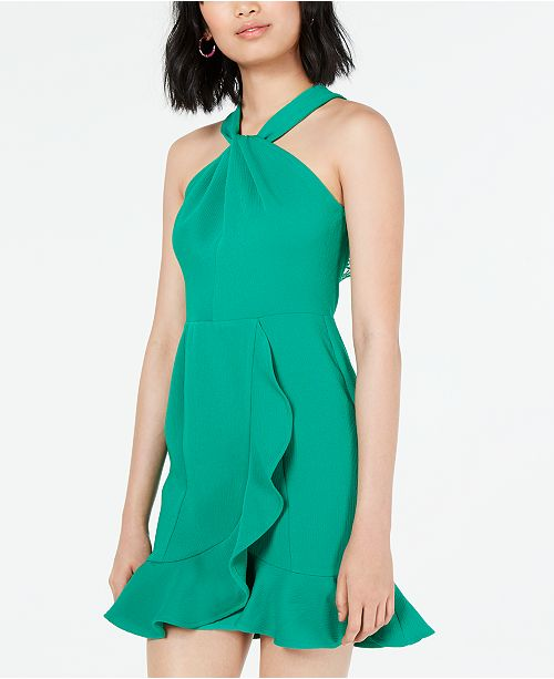 Ruffled Lace Back Dress