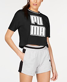 Puma Rebel Reload Cotton Cropped T-Shirt