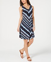 09de016af Style & Co Printed Cross-Strap Swing Dress, Created for Macy's