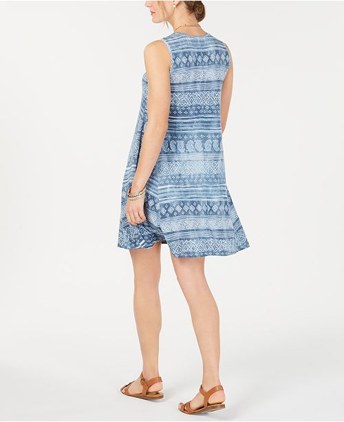 Avis Indigo Pour Robes Bleu Petites Fields Petite ImprimeeCree Robe Imprimee StyleCo MGqVUpSz
