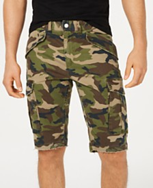 GUESS Men's Carter Stretch Camo Twill Cargo Shorts