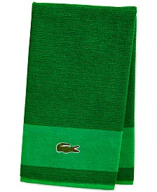CLOSEOUT! Lacoste Match Cotton Colorblocked Bath Towel