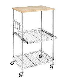 Whitmor Supreme Rolling Microwave Cart