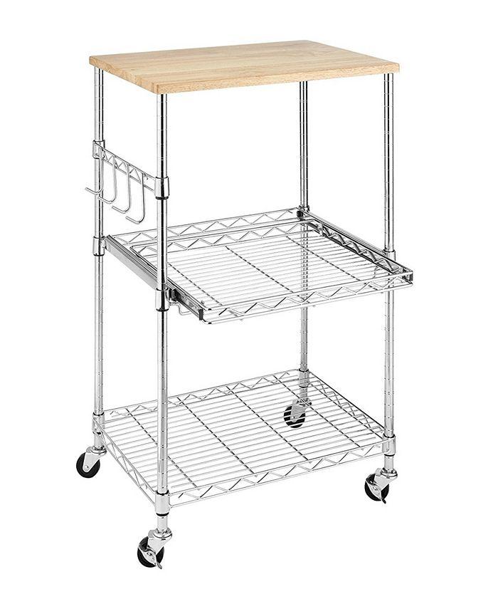 Whitmor - Supreme Rolling Microwave Cart
