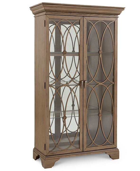 Furniture Trisha Yearwood Jasper County Stately Brown Curio